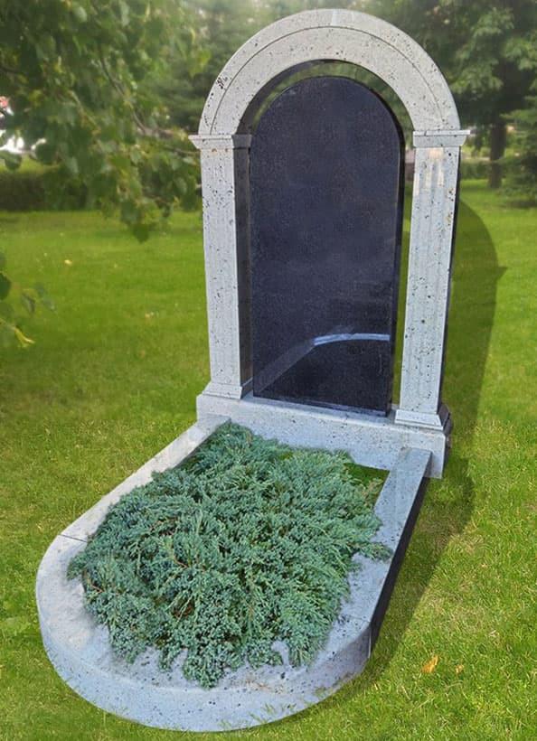 Памятник Арка с полукруглым цветником
