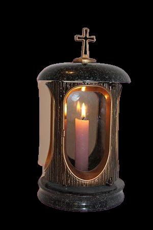 Лампада со стеклянными окошками и дверцей на магните