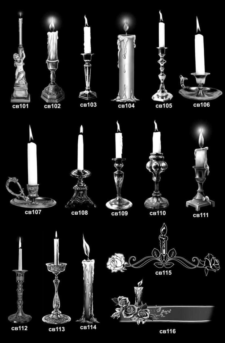 Изображения свечи для гравировки