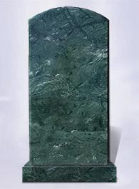Памятник из зеленого индийского мрамора Verde Guatemala