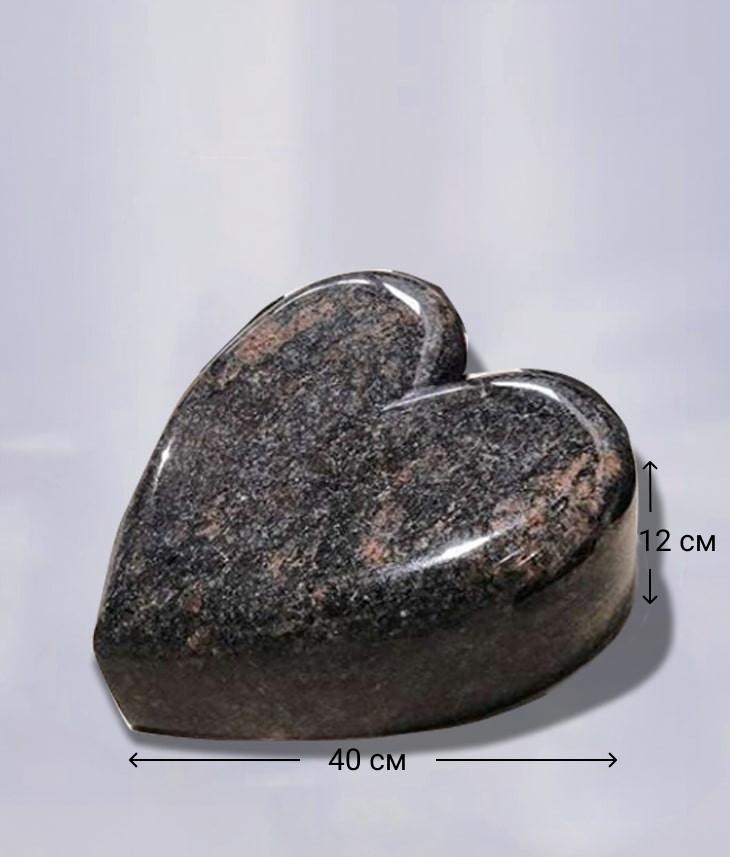 Надгробный камень в форме Сердце из Дымовского гранита