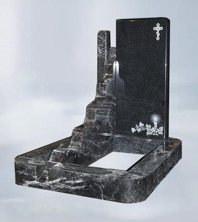 """Мемориальный комплекс """"Ручей времени"""" из гранитового амфиболита и чёрного гранита"""