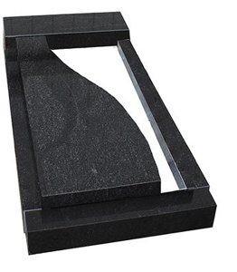 Надгробная плита с продольным волновым разрезом