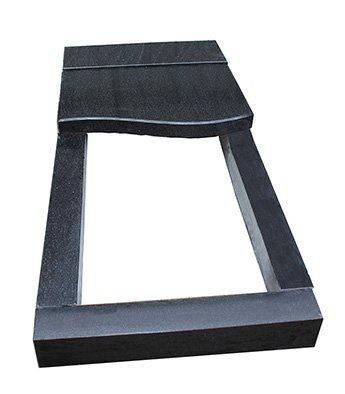 Надгробная плита укороченная в волновым скосом